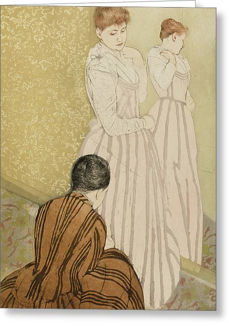 The Fitting Greeting Card by Mary Stevenson Cassatt