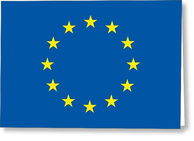 Eu Greeting Cards - The flag of the European Union Greeting Card by Unknown
