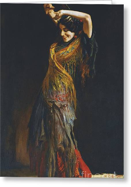 Leopold Greeting Cards - The Flamenco Dancer Greeting Card by Celestial Images