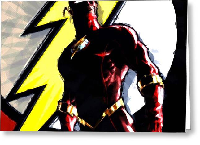 Art Book Greeting Cards - The Flash Greeting Card by Helge