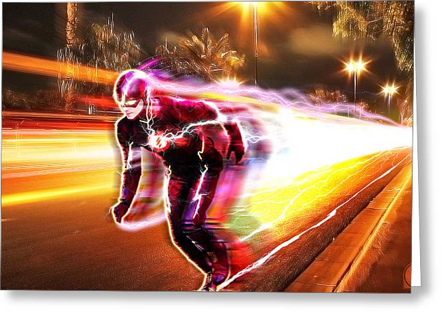 The Flash Greeting Card by The DigArtisT