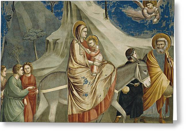 The Flight Into Egypt Greeting Card by Giotto di Bondone