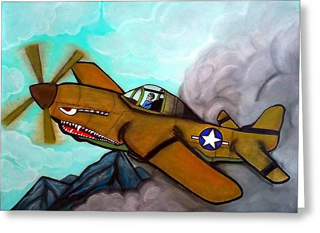 Airplane Pastels Greeting Cards - The Flight Greeting Card by S J Arnstad