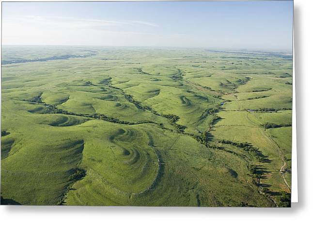 Tallgrass Prairie National Preserve Greeting Cards - The Flint Hills Of Kansas Greeting Card by Jim Richardson