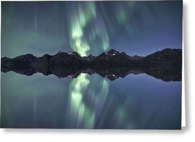 The Flip Side Greeting Card by Tor-Ivar Naess