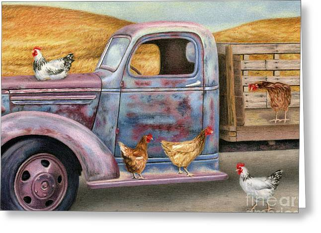 Where The Hens Gather  Greeting Card by Sarah Batalka