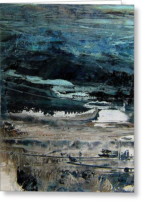 The Flood On The Rivers Greeting Card by Nancy Kane Chapman