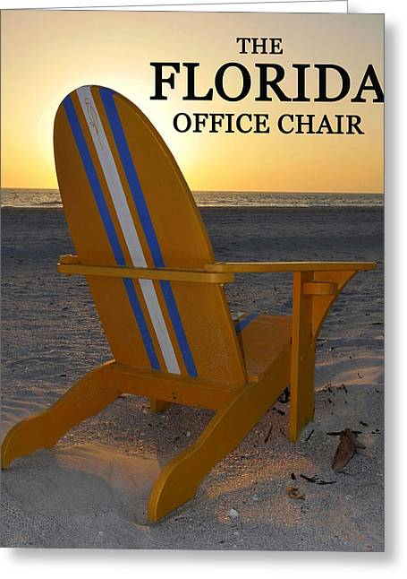 Office Chair Greeting Cards - The Florida office chair work B Greeting Card by David Lee Thompson