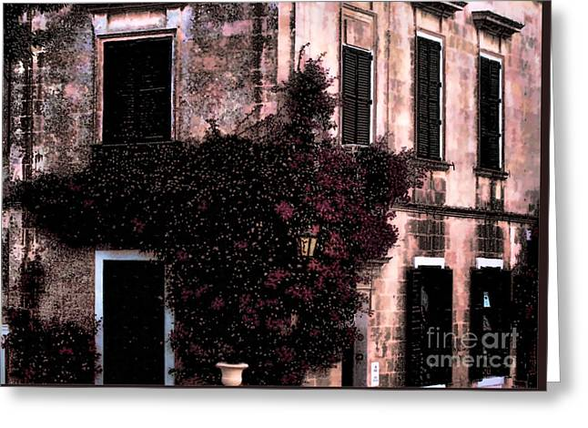 Photo Gallery Website Greeting Cards - The flower shop Malta Greeting Card by Tom Prendergast