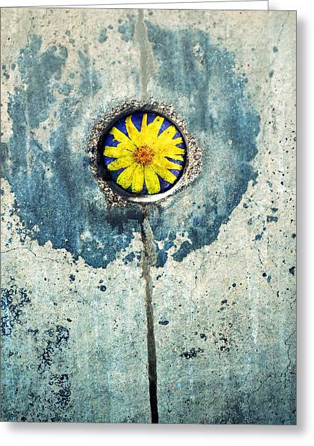 Man Made Abstract Greeting Cards - The Flower Within Greeting Card by Tara Turner