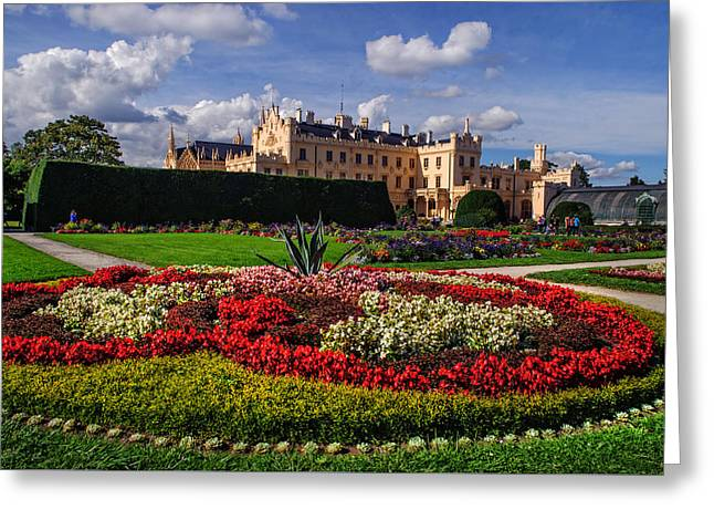The Flowers Heaven. Czech Lednice Greeting Card by Jenny Rainbow