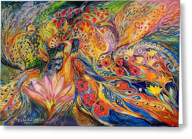 The Flowers of Sea Greeting Card by Elena Kotliarker