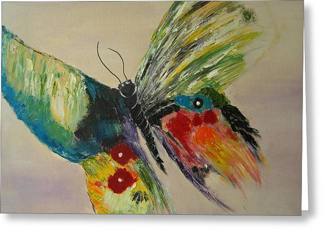 Print On Acrylic Greeting Cards - The Flying Butterfly Greeting Card by Clement Tsang