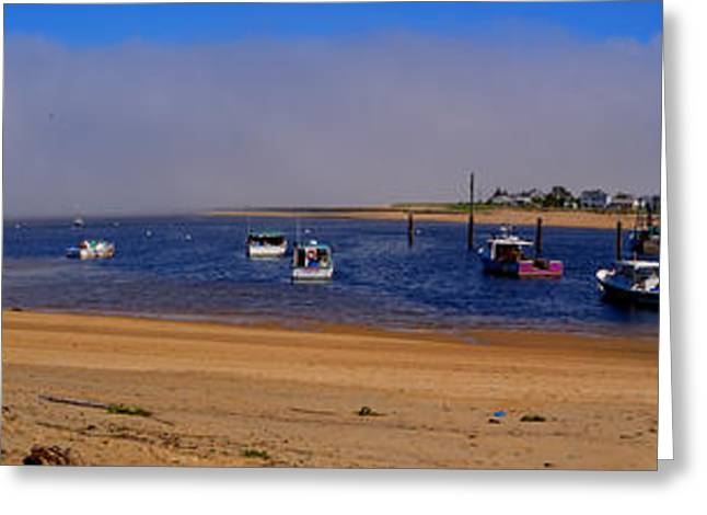 Maine Beach Greeting Cards - The Fog Bank Greeting Card by David Bishop