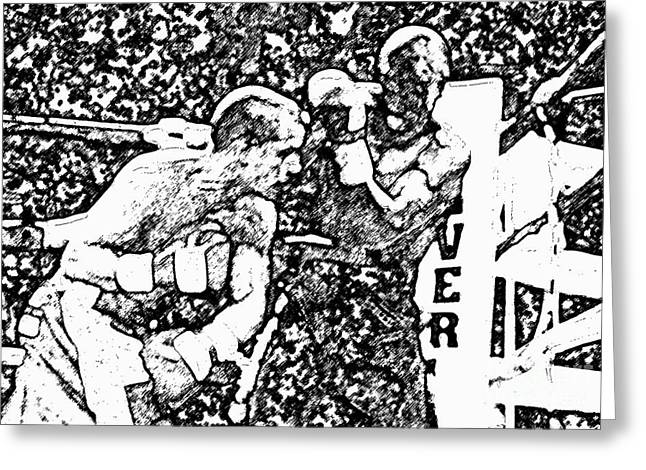Boxing Rings Greeting Cards - The Follow Through Greeting Card by David Lee Thompson