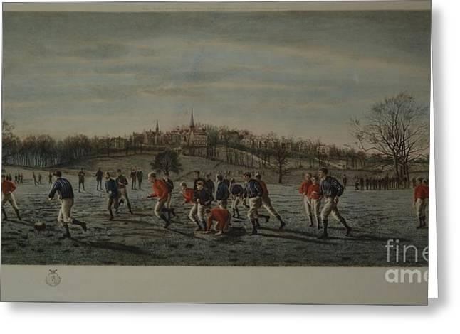 The Football Fields Harrow Greeting Card by Thomas M Henry