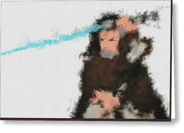 The Force Greeting Card by Miranda Sether