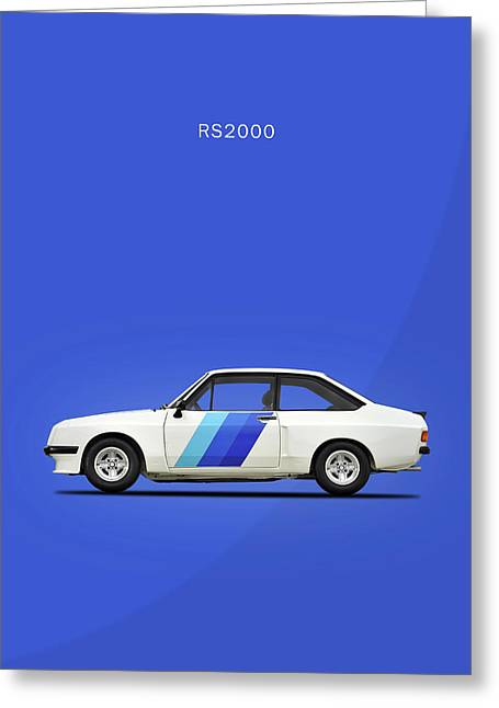 The Ford Escort Rs2000 Greeting Card by Mark Rogan