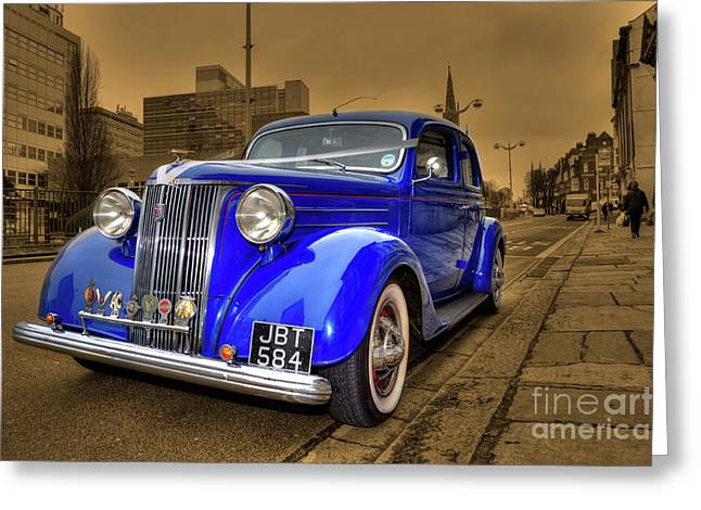 Ford Custom V8 Greeting Cards - The Ford Pilot Greeting Card by Rob Hawkins