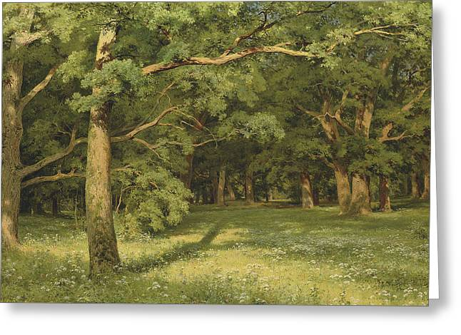 The Forest Clearing Greeting Card by Ivan Shishkin