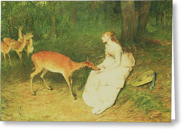 The Forest Pet Greeting Card by William Quiller Orchardson