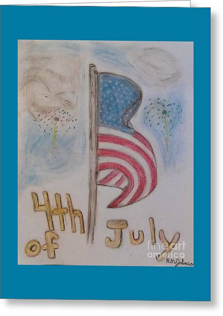 Fireworks Pastels Greeting Cards - The Forth  Greeting Card by Hannah Johnson