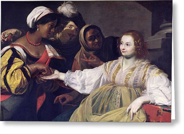 Thief Paintings Greeting Cards - The Fortune Teller Greeting Card by Nicolas Regnier