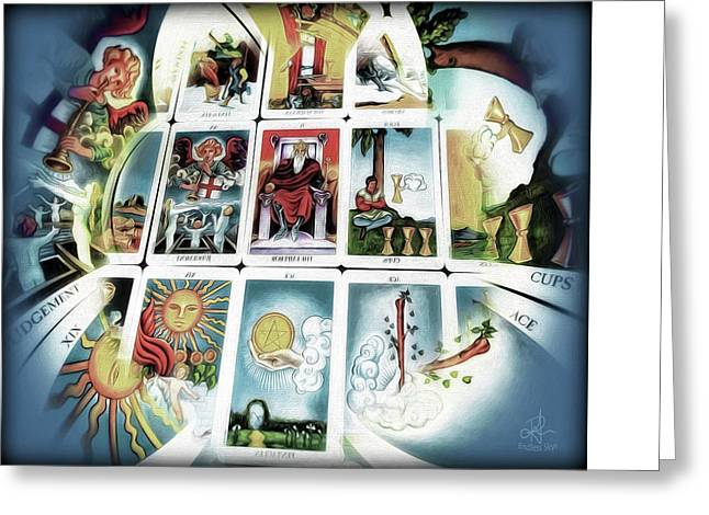 Gypsy Greeting Cards - The Fortune Teller Greeting Card by Pennie  McCracken