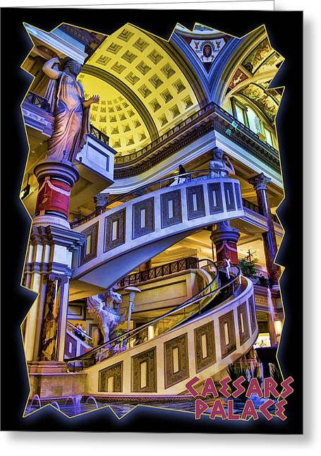 Caesars Palace Greeting Cards - The Forum at Caesars Greeting Card by Ricky Barnard