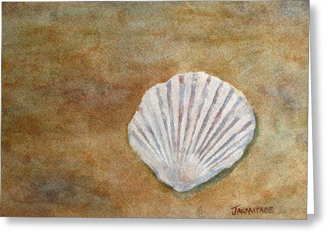 Fossils Greeting Cards - The Fossil Shell Greeting Card by Jenny Armitage