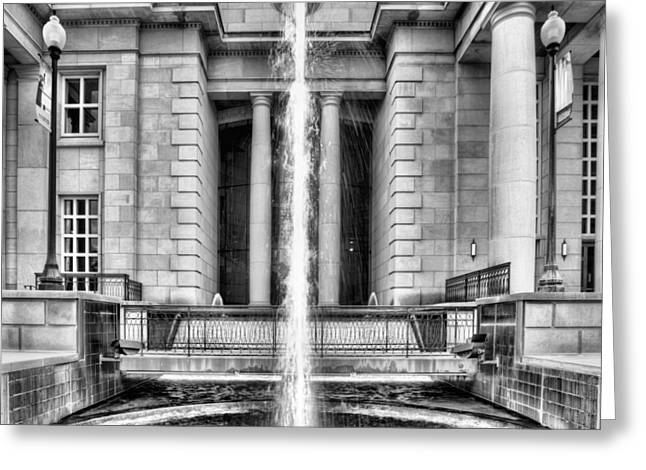 Hattiesburg Photographs Greeting Cards - The Fountain at Trent Lott National Center Greeting Card by JC Findley