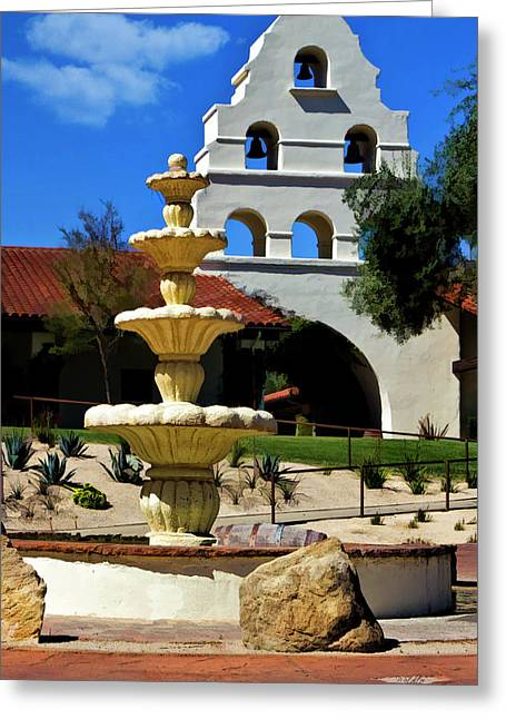 Fountain Digital Greeting Cards - The Fountain Greeting Card by Patricia Stalter