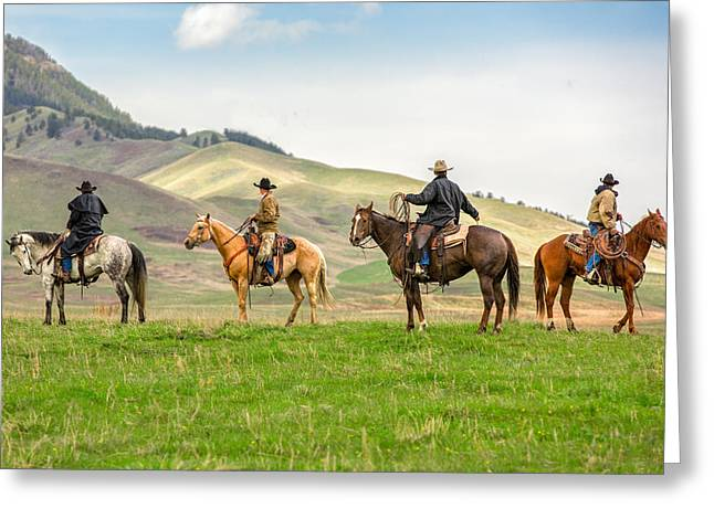 The Four Horseman Greeting Card by Todd Klassy