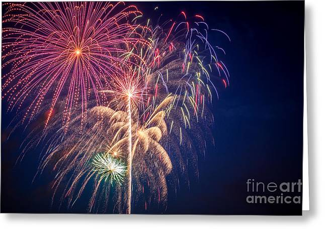 Pyrotechnics Greeting Cards - The Fourth Greeting Card by Lynn Sprowl