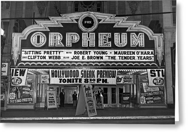 The Fox Orpheum Theater Greeting Card by Underwood Archives