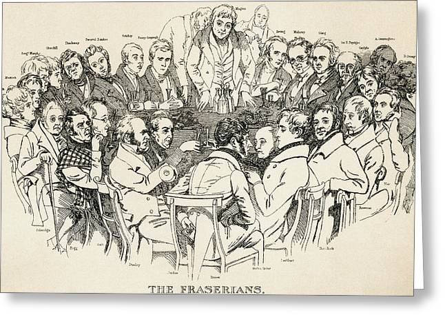 Galt Greeting Cards - The Fraserian Circle. A 19th Century Greeting Card by Ken Welsh