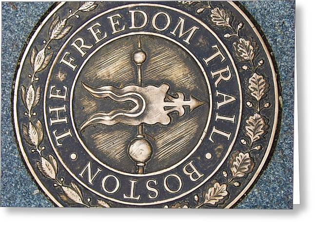 The Freedom Trail Greeting Card by Charles Dobbs