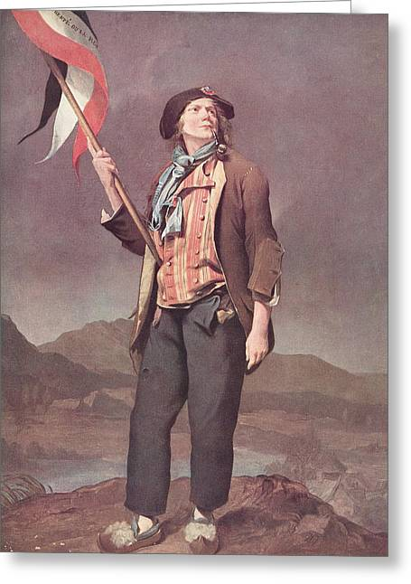 Boilly Greeting Cards - The French Singer Chenard In The Greeting Card by Vintage Design Pics