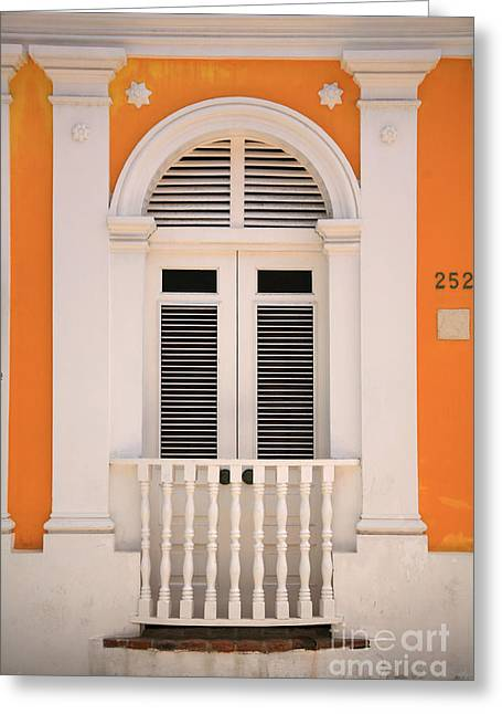 Old San Juan Greeting Cards - The Front Door Greeting Card by Timothy Johnson