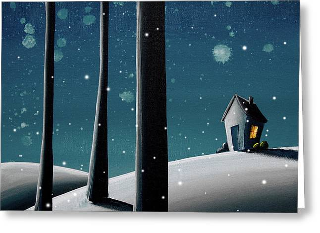 Winter Night Greeting Cards - The Frost Greeting Card by Cindy Thornton