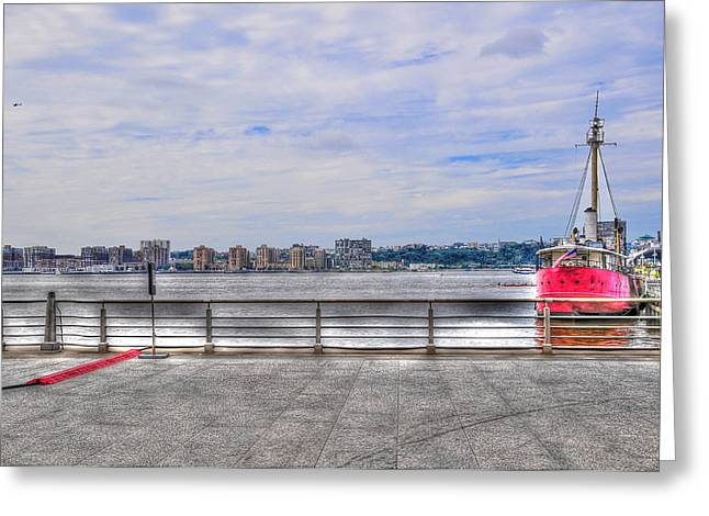 Chelsea Greeting Cards - The Frying Pan Boat at Maritime 66 Greeting Card by Randy Aveille