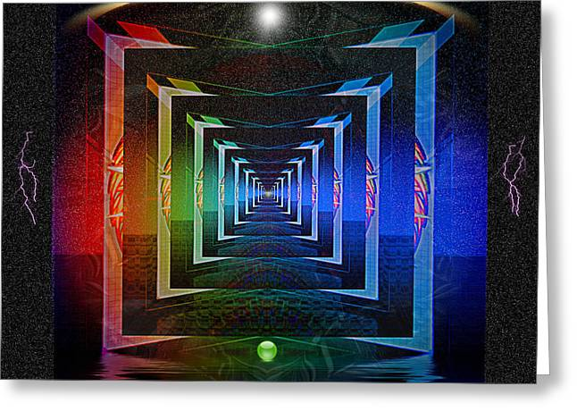 Abstract Style Greeting Cards - The Fundamental Roots of the Cosmos Greeting Card by Mario Carini