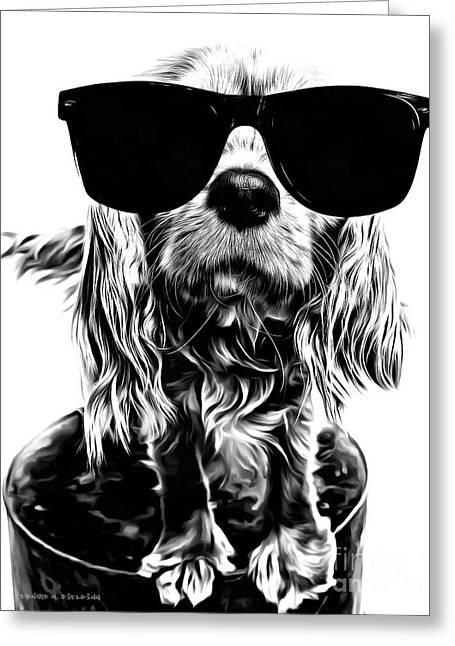 Spaniel Digital Art Greeting Cards - The Futures So Bright, I Gotta Wear Shades Greeting Card by Edward Fielding