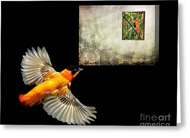 Red Bishop At The Gallery Greeting Card by Jennie Breeze