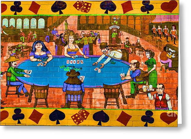 Saloons Greeting Cards - The Gambling hall Greeting Card by Steven Parker