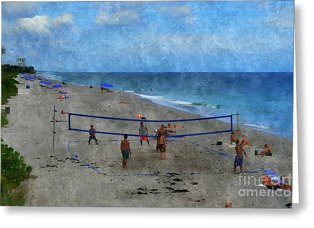 Beach Photography Greeting Cards - The Game Greeting Card by Glenn Forman
