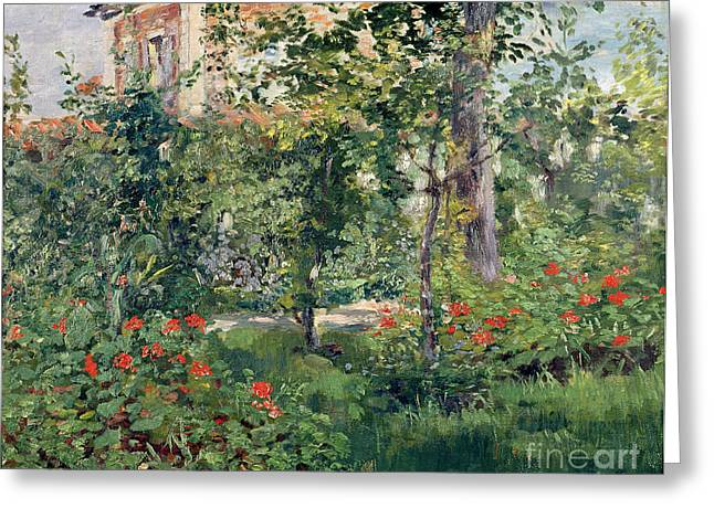Le Jardin Greeting Cards - The Garden at Bellevue Greeting Card by Edouard Manet