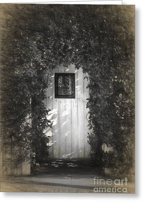 Artistic Photography Greeting Cards - The Garden Gate Greeting Card by C W Hooper
