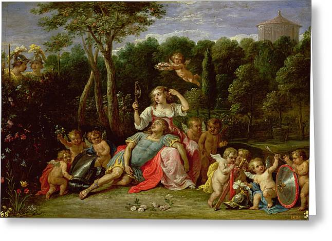 Saracen Greeting Cards - The Garden of Armida Greeting Card by David the younger Teniers