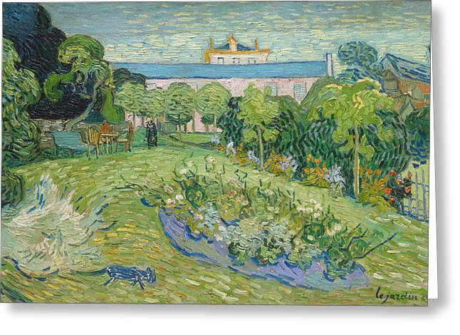 Gogh Greeting Cards - The Garden of Daubigny Greeting Card by Vincent van Gogh